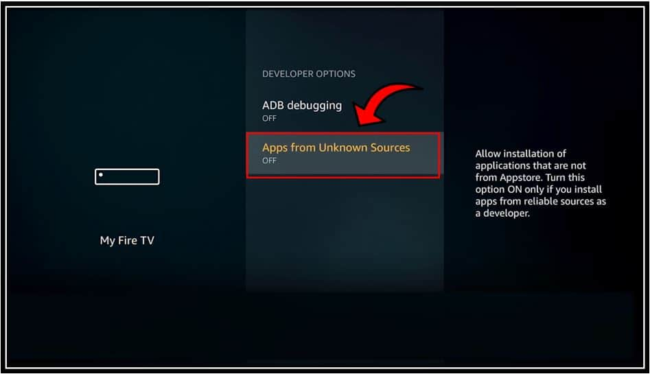 Apps from Unknown Sources on Firestick 4